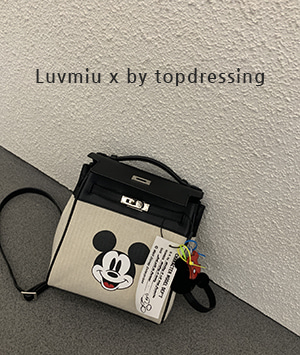 [luvmiu x by topdressing ]미키백팩 = bag